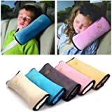 HOME CUBE Car Safety Strap Seat Belts Pillow Shoulder Protection Belt Pads Cover Cushion Harness Pad for Kids Children…