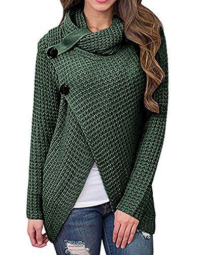 Daomumen Umstands-Pullover, Damen, leger, O-Ausschnitt, Baumwolle, Stillen Up langärmelig - - X-Large/46-48 -