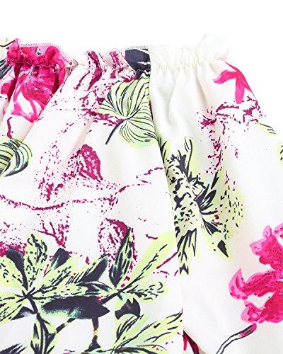 StyleDome Donna Canotta Camicetta Maglietta Sera Spalle Scoperte Manica Lunga Blusa Sexy Collo Barca Verde beige