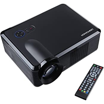 DbPower 1080P LED Videoproiettore Proiettore Risoluzione: Nativa 854 * 540, 1024 * 768 Supporto 1080P 720P, 2000 Lumen, 2*HDMI Interface/2*USB/AV/TV/VGA/S-Video Home Cinema
