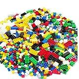 channeltoys - Lot de 500pcs Brique de Construction générique - Compatible Lego - Mix Couleurs & Formes - Jouet garçon & Fille
