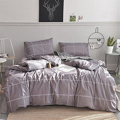 Unbekannt Reine Baumwolle mit Vier Sätzen, Mesh-Design und Bequemen Betten, Voll, Königin, König. (Color : Brown, Size : King)