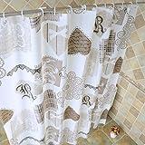 LX.AAH Impermeabile e muffa-prova la tendina della doccia bagno finestra a tendina tende, 180cmx200cm