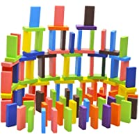 Blossom Pack of 2 (120 pcs Each Pack) Colorful Wooden Domino Set for Kids Colourful Wooden Dominos Toy Colourful Wooden…
