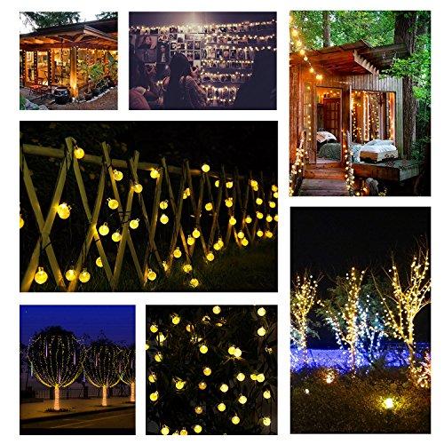 Solar luci di natale da esterno mycarbon strip led luci - Luci decorative ...