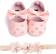 Voberry Voberry Unisex-Baby Stripe Bow Shoes Toddler Princess Flat Leather Moccasins