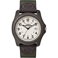 Timex Expedition Camper 39 mm Men's Olive Green Nylon Strap Quartz Watch with Date Window