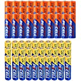 30 Pack AA Alkaline Batteries + 30 Pack AAA 1.5V Extra Heavy Duty Batteries (60 Combo Pack)