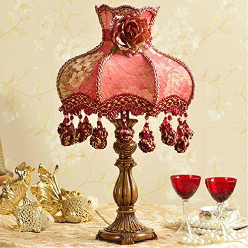 Schlafzimmer Nachttisch Dekoration Tischlampe/europäischen Stil Hochzeit Tischlampe/kreative warme Hochzeit Zimmer rot Tischleuchte,Dimming switch