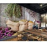 Kreative Retro 3D Wandbilder Wandbilder Für Wohnzimmer Schlafzimmer Dekoration Home Office Hotel Fototapete, 430X300 Cm (169,29X118,11 In)