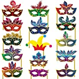 Party Propz™ Photo Props Mask Set Of 15 Pieces / Paper Mask For Party / Bachelorette Party Props For Bride