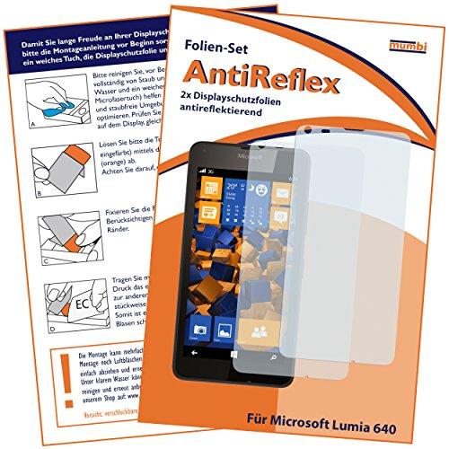 2 x mumbi Displayschutzfolie Microsoft Lumia 640 Schutzfolie AntiReflex matt