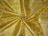 Schwere Brokat Stoff gelb x Metallic Gold Farbe 91,4cm by