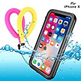 Custodia impermeabile iPhone XS X, B-DIG IP68 Certificato Waterproof Cover Slim Antiurto Antineve Antipolvere Antigraffio Subacquea Caso Full Protezione Impermeabile Custodia per iPhone XS/X, A-Black