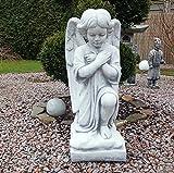 Steinfigur Engel Engelsbüste Skulptur Engelsmotiv Putte Gartendeko Grabengel Frostsicher massiver Steinguss