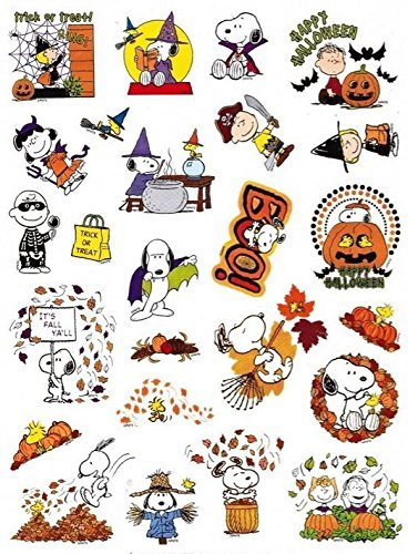 Peanuts Snoopy Fall and Halloween Stickers (25 Stickers; 1-1) by Current