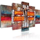 murando - Bilder 225x112 cm - Vlies Leinwandbild - 5 Teilig - Kunstdruck - Modern - Wandbilder XXL - Wanddekoration - Design - Wand Bild - Abstrakt Figuren - Wie Gemalt h-A-0077-b-p