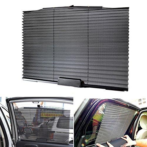 Preisvergleich Produktbild Automatische Dehnen grün Sonnenschutz Plissee Auto Vorhang Auto Sonnenschutz
