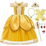 FMYFWY Niñas Vestidos de Belle Disfraz de Carnaval Princesa Cumpleaños Traje de Halloween Navidad Ceremonia Aniversario Bauti