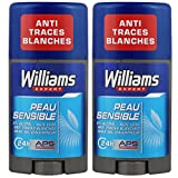 Williams Déodorant Homme Stick Ice Peau Sensible 75ml - Lot de 2