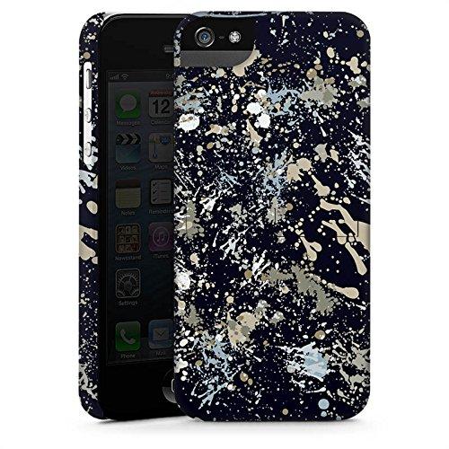 Apple iPhone 5 Housse Étui Silicone Coque Protection Camouflage Taches de couleur Motif CasStandup blanc