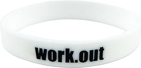 Fitness und Bodybuilding Armband Work Out Training Workout Sport Fitness Gym Lifestyle CrossFit Zubehör Accessoire Silikon Gummi Band Sportarmband Unisex Neu