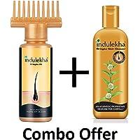 Indulekha Bringha Hair Oil and Hair Fall Shampoo (100, 200 ml)