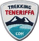2 x Stick Abzeichen 55 x 58 mm / Insel Trekking auf Teneriffa / Outdoor, Wandern, Reise / hochwertig gestickte Applikation Aufnäher Aufbügler Flicken Bügelbild Patch für Kleidung und Rucksack.