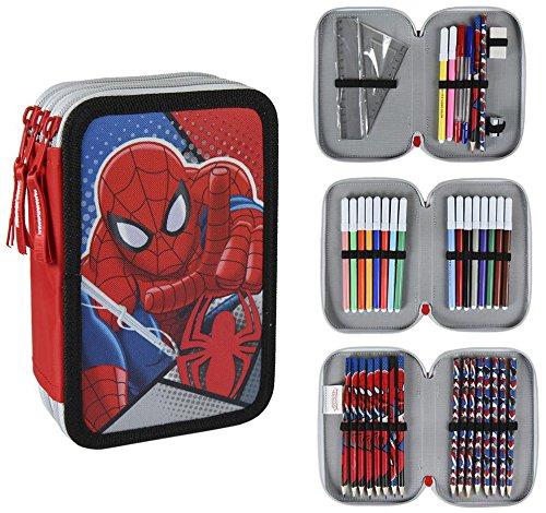 Plumier Spiderman Marvel triple