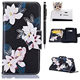 Samsung Galaxy A3 (2016) Coque,Samsung A3 Case -Felfy Flip Style Ultra Slim PU Cuir Couverture Wallet Case Avec Support Fonction Colorful Painting Design Motif Cuir Coque Magnetic Closure PU Étui Portefeuille Cas Housse Etui Samsung Galaxy A3 (2016) (Noir Lis) + 1 x Noir Touch Stylus + 1 x Noir Owl Anti Plug