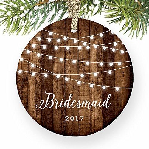 Rutehiy Ornamente für Weihnachtsbaum Brautjungfer Geschenke werden Sie My Bridesmaid Wedding Bridal Party Vorschlag Weihnachts datiert Dekorative Ornament, zum Aufhängen Xmas Geschenk (Datiert Weihnachtsbaum Ornamente)