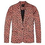 Maison Scotch Slim Fit Animal Print Damen Blazer M Combo A