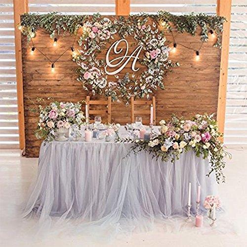 Zantec Tisch Rock mit Romantische TUTU Flauschigen Tüll Geschirr Tischdecke Socke für Baby Dusche Weihnachtsfeier Hochzeitstorte Tisch Mädchen Prinzessin Dekoration