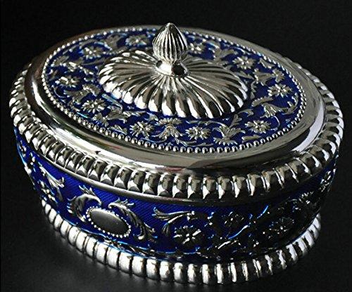 Dhjust vintage gioielli box astucci per gioielli casella anello ornamento casella storage, 12,2*9,6*8cm