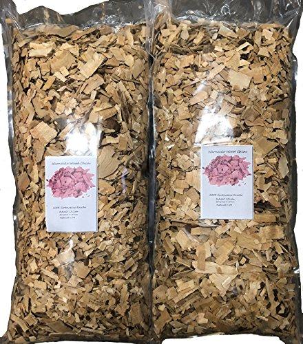 Brennholz Handel Warnecke Wood Chips Buche – 26 Liter Räucherchips für Grill und Smoker BBQ