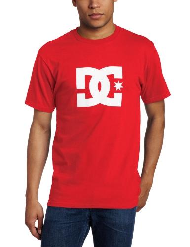 DC Herren T-Shirt Star Short Sleeve Logo Tee - Rot - XX-Large -