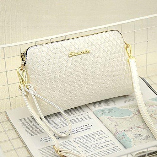 LiZhen Ms. Pacchetti estate piccoli Messenger Nuovo marea coreana elegante spalla una croce-pacchetto a mano minimalista, selvatici diamond silver M bianco