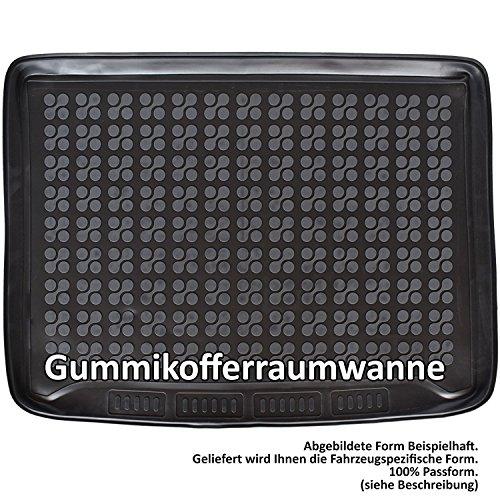 AME Prime - Auto-Gummiwanne Kofferraum-Schutzmatte für den unteren Laderaum mit Schmutzrand 231878KW