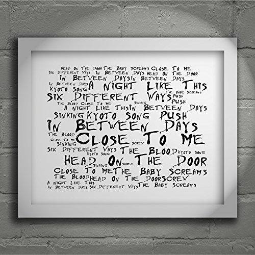 Preisvergleich Produktbild `Noir Paranoiac` Kunstdruck - THE CURE - Head on the Door - Unterzeichnet und Nummerierten Limitierte Auflage Typografie Ungerahmt 25 x 20 cm Wand Kunst Druck Text Lyrisch Plakat - Song Lyrics Art Print Poster