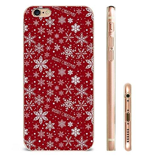 iphone 7plus Hülle Design für iPhone 7plus Weihnachten Schneemann Merry Christmas snowflake für case iphone 7 plus-Das Beste Weihnachten Geschenk YM11