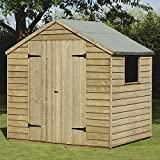 A 7x5 FT Pressure Treated Outdoor Garden Storage Shed w/ Double Door ideal for Storing Tools Lawn Mowers BBQ Furniture - Forest Garden - amazon.co.uk