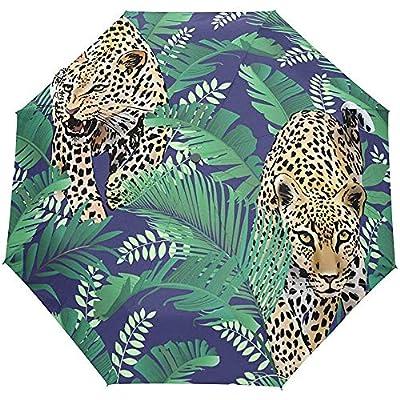 Tigre Salvaje Animal Selva Tropical Bosque Auto Abrir Cerrar Sol Paraguas Lluvia
