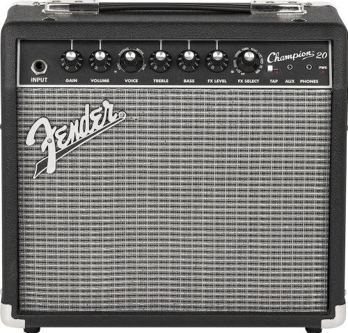 Fender champion 20 amplificatore per chitarra 20 watt 2 canali con effetti