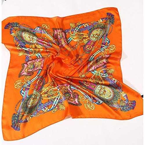 TLXOZ Quadratischer Schal Imitierte Seidenschals Halsketten Stewardess Ladies Office Halstuch Foulard Bandana