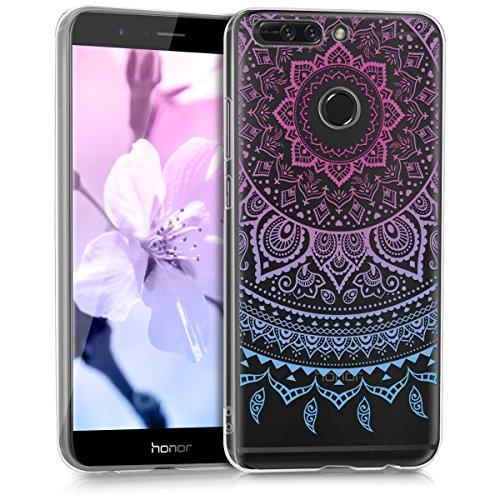 kwmobile Huawei Honor 8 Pro Hülle - Handyhülle für Huawei Honor 8 Pro - Handy Case in Blau Pink Transparent