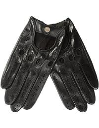 WARMEN Damen Fahrerhandschuh-Klassiker aus Nappaleder, ungefüttert Fahrerhandschuhe , offener Handrücken