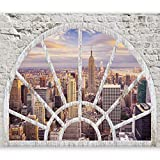 murando - Fototapete Fenster nach New York 350x256 cm - Vlies Tapete - Moderne...