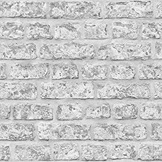 Arthouse, Rustic Brick Grey Wallcovering