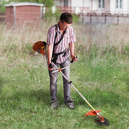 Motorsense Freischneider Rasentrimmer Rasenmäher 3 PS und 52cm³ Orange - 3