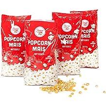 Original Popcornmais 4 x 500 g Firma Popcornloop Beste Gold Qualität Ohne Gentechnik Vegan Glutenfrei Bester Geschmack